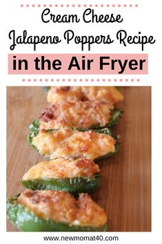 Cream Cheese Jalapeno Poppers Recipe in the Air Fryer. A simple jalapeno popper recipe that can be made keto-friendly. Tips to choose the heat in jalapenos. Cream Cheese Recipes, Bacon Recipes, Quick Recipes, Gourmet Recipes, Cream Cheeses, Summer Recipes, Cheese Dips, Dip Recipes, Fruit Recipes