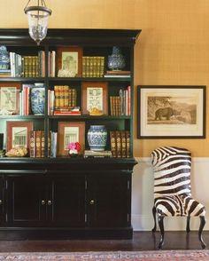 little black door: design crush - schuyler samperton Bookcase styling