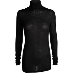 Designers Remix Sia Turtleneck longsleeve T-shirt ($120) ❤ liked on Polyvore featuring tops, t-shirts, black, black turtleneck, black tee, longsleeve tee, black long sleeve top and long sleeve t shirts