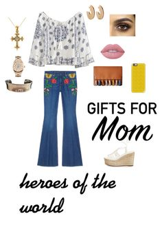 """""""mom's style"""" by noraa1016 on Polyvore featuring Gucci, WithChic, Chloé, Rebecca Minkoff, Casetify, Elizabeth and James, Rotary, Tiffany & Co., Lime Crime and Allurez"""