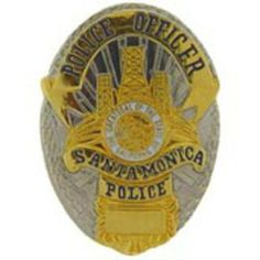 "Santa Monica Police Officer Badge Pin 1"" by FindingKing. $9.50. This is a new Santa Monica Police Officer Badge Pin 1"""