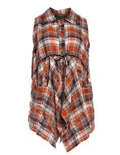Taillierte Baumwollweste von Xadoo in Rost / Bunt.Angesagte Kleidung im navabi Online Shop kaufen.