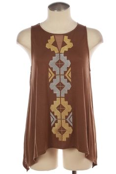 Taupe Tribal Tank Laney Lu S Boutique
