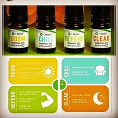 These essential oils are amazing!!!!!!! in time for the holidays, get ready to BOOM, CHILL, DEFEND, and CLEAR with the It Works! Essential Oils!