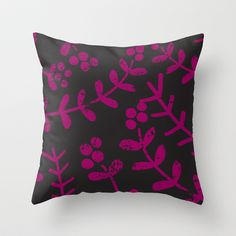 leaves patterned 1 Throw Pillow by aticnomar - $20.00