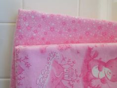 Set of two adorable preemie baby blankets: Pink Baby Bear and Small Pink Stars.  One blanket tells a story about a sweet little baby bear Valentine's Day party, Valentine's Day, Valentine's Day Accessories, Valentine's Day gift, baby gift, baby shower, baby blanket