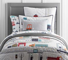 Things That Go Quilted Bedding | Pottery Barn Kids