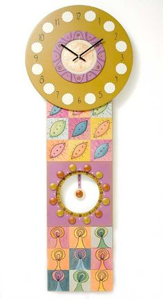 Seeds to Trees - contemporary, handcrafted pendulum wall clock - one of a kind