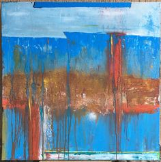 """31"""" x 31"""" Painting textured Acrylic Painting large abstract painting by tiberiuion on Etsy https://www.etsy.com/listing/510440322/31-x-31-painting-textured-acrylic"""