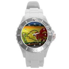 Les Couleurs UNISEX Plastic Sport Watch (Large)  by Jocelyn Apple/Appleartcom. Les Couleurs Plastic Sport Watch (Large) by Jocelyn Apple/Appleartcom Round Plastic Sport Watch (L).