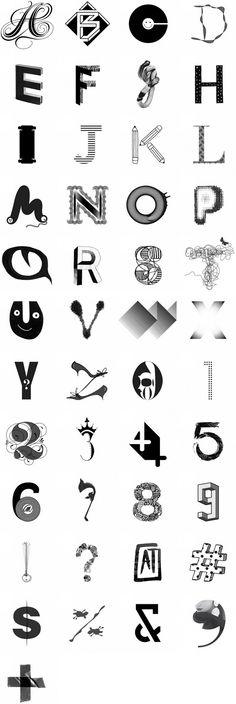 In April of 2012 the A to Z Project was created by Free Arts NYC  and Red Peak Branding to rally the creative community around the belief that art education is transformational and should be available to everyone. They asked 45 premier artists, illustrators, typographers and designers to lend their talents to create a letter, number or symbol. Here the original alphabet created through that collaboration.