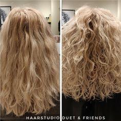 Voor na, before after, krullenknippen. Krullen geknipt bij krullenkapper Haarstudio DUET & friends te Hengelo. hairstyles.  Dit is natuurlijk krullend haar, geen permanent en NIET geknipt met de curl.sys. knipmethode, het model is geknipt door krullenkapper, krullenspecialist, allround hairstylist, Marjan van Haarstudio Duet & friends in Hengelo. www.haarstudioduet-friends.nl Curl Curl, Popular Pins, Naturally Curly, Hairdresser, Most Beautiful Pictures, Curls, Curly Hair Styles, Stylists, Told You So
