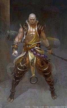 Fantasy Art Young Monk