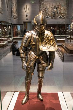 ritasv: Archduke Maximillion III jousting armor - Cleveland Museum of Art - 2014-11-26 by Tim Evanson 'Via Flickr: Jousting armor for Archduke Maximillian III of Austria, by armorer Anton Pfeffenhauser of Augsburg, Germany, in 1571 AD. Steel, with gilded bas-relief. Cleveland Museum of Art.'