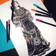 Thank you @drawingfeever for the #FallWinter1516 #fanart #illustration