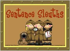 Sentence Sleuths Subject and Predicate Parts Smart Board Activity