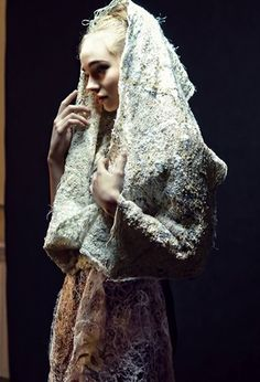 Shaw and dress with recycled wool and threads by Beata Jarmolowska Photo by Olga Stachwiuk Model Nika Stachwiuk Game Of Thrones Characters, Wool, How To Wear, Fictional Characters, Dresses, Art, Vestidos, Art Background, Kunst