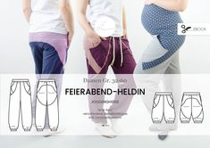 """Nähanleitungen Mode - eBook Hose """"Feierabend-Heldin"""" Damen Gr. 32-60 - ein Designerstück von hilli-hiltrud bei DaWanda"""