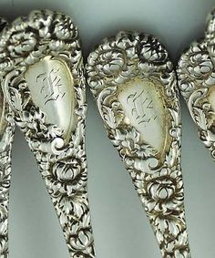 Durgin, Chrysanthemum...How I adore the initials engraved into silver.  This is lovely