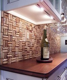 wine cork backsplash not only protect the walls from staining but kitchen glass fabric