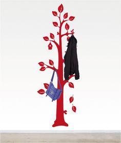Wandtattoo Natur Baum - Garderobe
