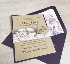 Hochzeitskarten - Einladung Vintage/Boho  - ein Designerstück von printsonalities bei DaWanda