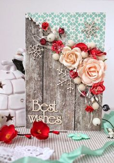 Xmas Cards, Diy Cards, Diy And Crafts, Paper Crafts, Mixed Media Cards, Shabby Chic Cards, Theme Noel, Winter Cards, Card Tags