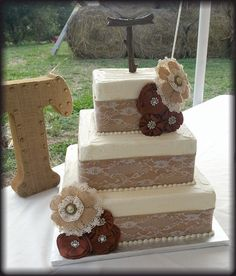 Image result for square wedding cakes rustic