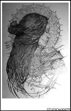 Amazing artwork - Love the exotic tribal Goddess imagery - Artist JEREMY BESWICK