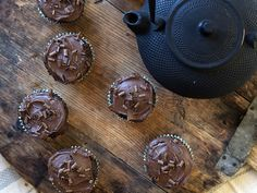 sjokolademuffins med sjokoladeglasur