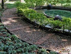 Дорожки из гравия своими руками в саду на даче