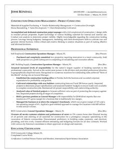 Resumes For Excavators | Resume Samples Construction