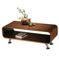 Club TV Rack dunkel Fernsehregal Retro Lounge Tisch Möbel Regal Holz gestreift
