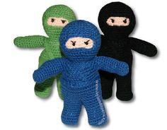 Ninja Amigurumi (crochet) -Translate to English! Crochet For Boys, Crochet Bear, Cute Crochet, Crochet Animals, Crochet Crafts, Crochet Dolls, Crochet Projects, Crotchet, Beautiful Crochet