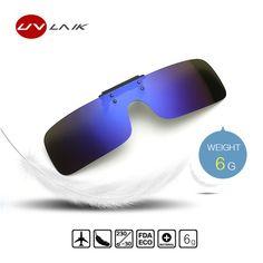 dafd1d59af UVLAIK Clip on Sunglasses Men Driving Polarized Flip up Glasses Women  Frameless Night Vision Goggles Eyeglasses