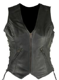 Check out Xelement Women's Classic Side Lace Cowhide Leather Vests on LeatherUp.com!
