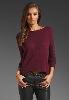 Line The Infinite Cashmere Sweater in Pinot