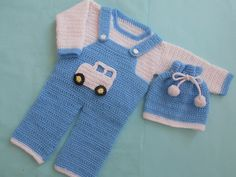 boy romper set,baby set, baby sweater and hat, baby hat,baby romper, crochet dungarees set, baby dungarees free pattern with pic tut by crochetcrosiahome