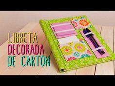 Libreta Decorada ♥ - Decora tus Libretas tipo Scrapbook - Regreso a Clases - Catwalk Cartonaje - YouTube
