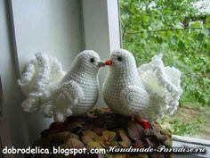 Crochet lovebirds ♥️LCA-MRS♥️with step by step picture instructions.