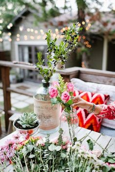 Beautiful table setting. From  Britta Nickel.