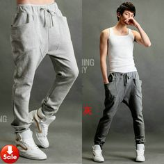 36d7221c133 pants tops Picture - More Detailed Picture about NWT Men Women Korean Style  Casual Athletic Hip Hop Dance Sporty Harem Baggy Tapered Sport Sweat Pants  ...