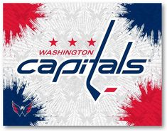 Make a big splash by putting your team alliance a focal point in the room with the Washington Capitals Canvas Wall Art. The printed canvas features splashes of the primary team color overlaying a repeat background. The primary team logo sits cen. Washington Capitals Logo, Washington Redskins, Holland Bar Stool, Print Logo, Print Pictures, Wall Prints, Canvas Wall Art, Printed, Frame