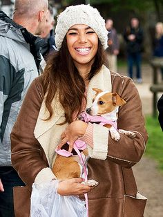 Leona Lewis and her furbaby pay a visit to the Easter Fair at Hopefield Animal Sanctuary – of which she is a patron – in Brentwood, England. http://www.peoplepets.com/people/pets/gallery/0,,20585486,00.html#21144456