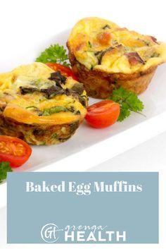 baked egg muffins, baked egg muffins recipes, egg muffins recipes, easy breakfast recipes, healthy breakfast recipes, muffin recipes via @grengahealth
