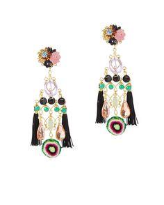 Mercedes Salazar Double Fringe Earrings