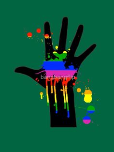 rainbow in my hand by bangbangflip Show Of Hands, Rainbow, Peace, Poster, Colors, Art, Rain Bow, Art Background, Kunst