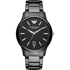 Emporio Armani AR1475 Mens Renato Ceramica Black Watch