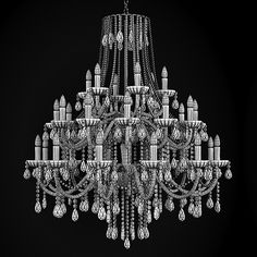 125 best chandelier images on pinterest antique chandelier chandelier classic crystal 3d model aloadofball Choice Image