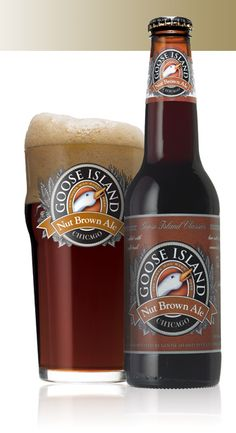"""Nut Brown Ale"" from Goose Island of Chicago. ""Subtle notes of chocolate, honey and fine tobacco give this ale an enjoyable and satisfying 'nutty' finish."""